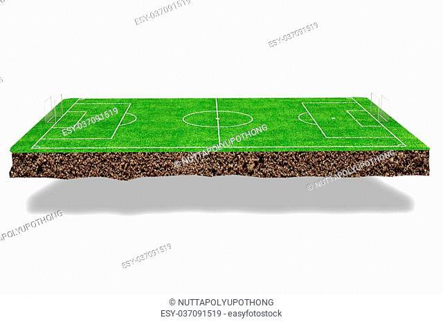 Football field 3d render