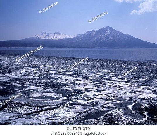 Mountain White Fuppushidake, Mt  Tarumae Lake Shikotsu Chitose Hokkaido Japan