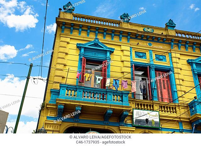 Paintings, La Boca, Buenos Aires, Argentina, South America
