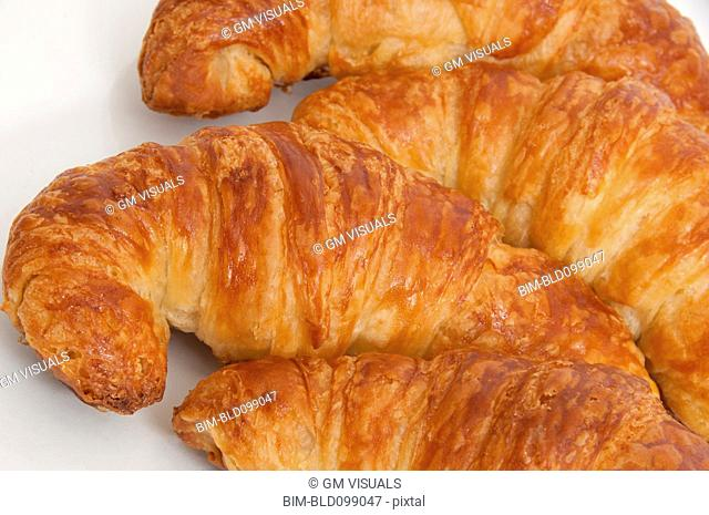 Close up of fresh croissants