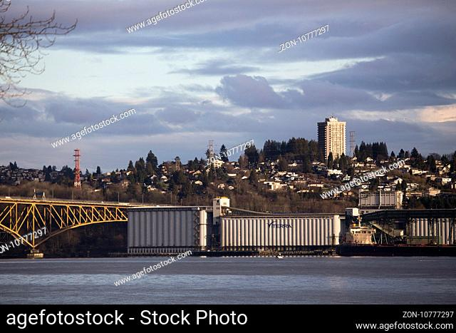 Burnaby British Columbia Vancouver Canada From North Vancouver