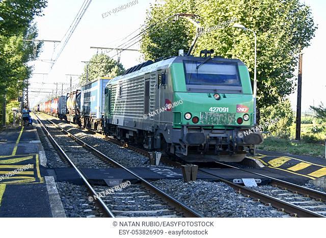Freight train, Coursan, France