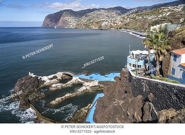 Natürliche Schwimmbecken im Stadtviertel Lido, Madeira, Portugal, Europa   Lido quarter natural pools, Madeira, Portugal, Europe
