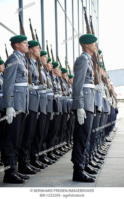 Guard of the Bundeswehr German army exercises at the