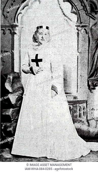 Costume used during I Lombardi alla prima crociata by Giuseppe Verdi 1813-1901) an Italian composer. Dated 19th Century