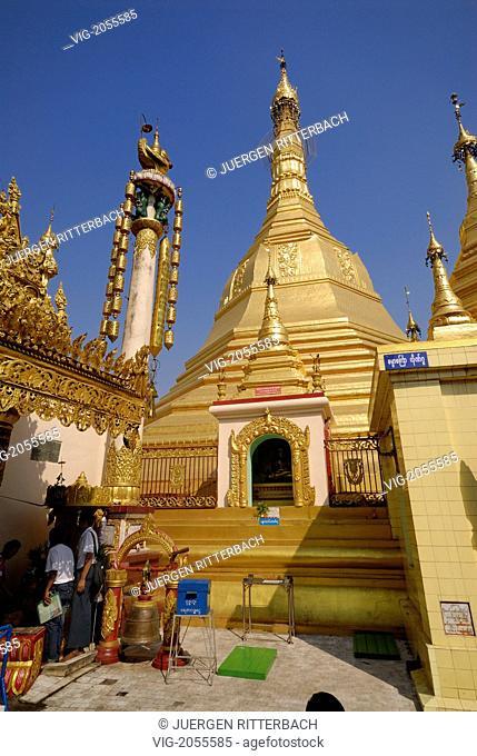 ASIA, MYANMAR, BURMA, BIRMA, YANGON, YANGOON, SULE PAGODA - YANGON, MYANMAR, 31/03/2010