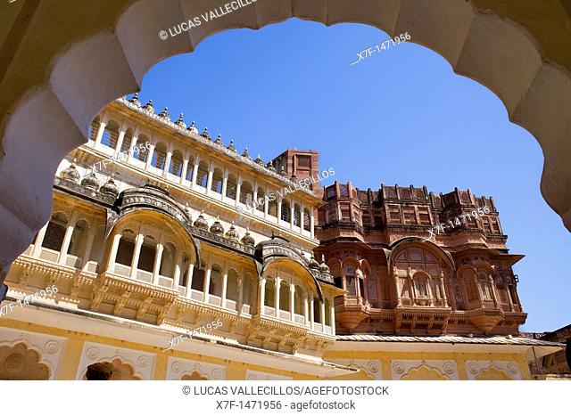 Mehrangarh Fort,inside of the fort,Jodhpur, Rajasthan, India