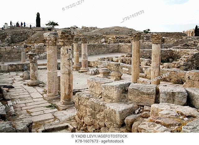 The byzantine church at the Citadel, Amman, Jordan