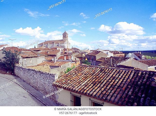 Overview. Simancas, Valladolid province, Castilla Leon, Spain