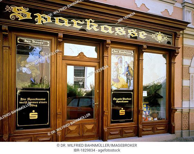 Sparkasse savings bank, Drosendorf, Drosendorf-Zissersdorf, Waldviertel, Lower Austria, Europe