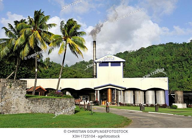 Rum Depaz distillery, Martinique, french island overseas region and department in the Lesser Antilles in the eastern Caribbean Sea, Atlantic Ocean