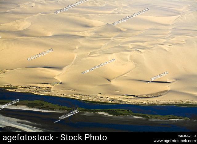 Africa, Namibia, Skeleton Coast, Aerial view