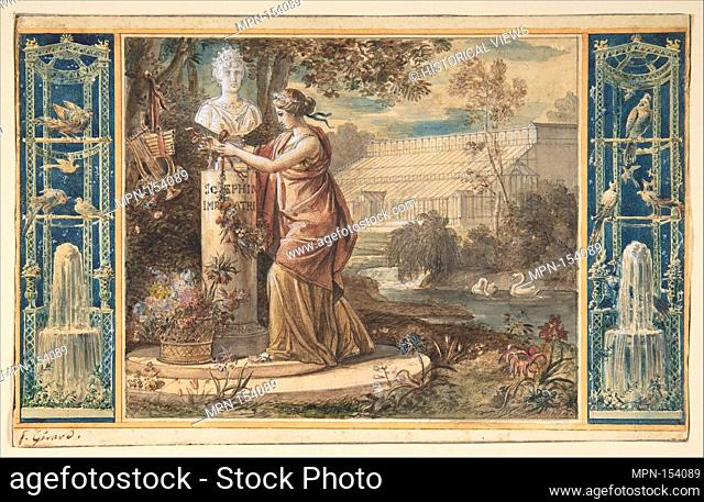 An Allegory of Empress Josephine as Patroness of the Gardens at Malmaison. Artist: baron François Gérard (French, Rome 1770-1837 Paris); Date: ca