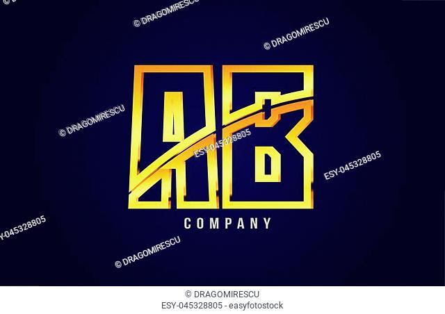 gold golden alphabet letter XXXXX logo combination design suitable for a company or business on a puple blue background