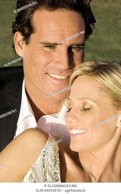 Close-up of a couple smiling, Biltmore Golf Course, Coral Gables, Florida, USA