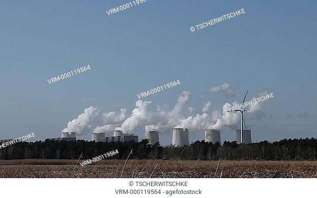 Brown coal power plant Jänschwalde in Brandenburg, Germany, Europe
