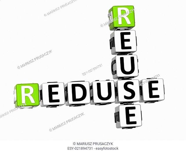 3D Reduse Reuse Crossword