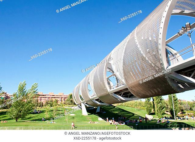 Monumental bridge of La Arganzuela or Perrault bridge, Madrid
