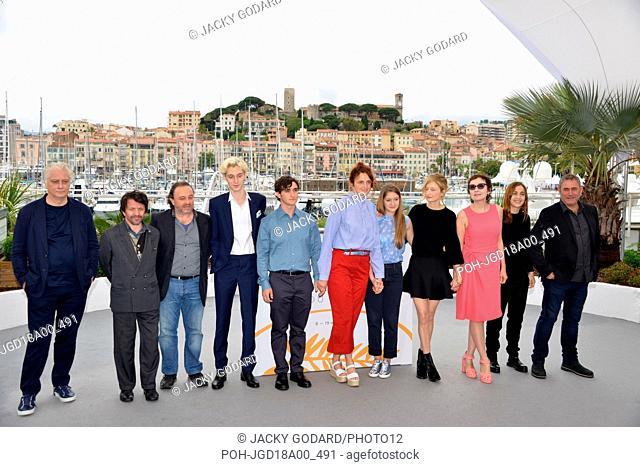 Crew of the film 'Happy as Lazzaro' (Lazzaro felice): ?, David Bennent, Natalino Balasso, Luca Chikovani, Adriano Tardiolo, Alice Rohrwacher, Agnese Graziani