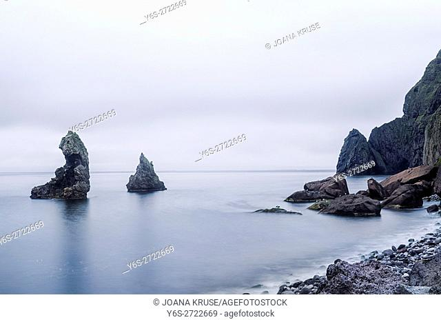 lava formation in the North Coast of Heimaey, Vestmannaeyjar, Iceland