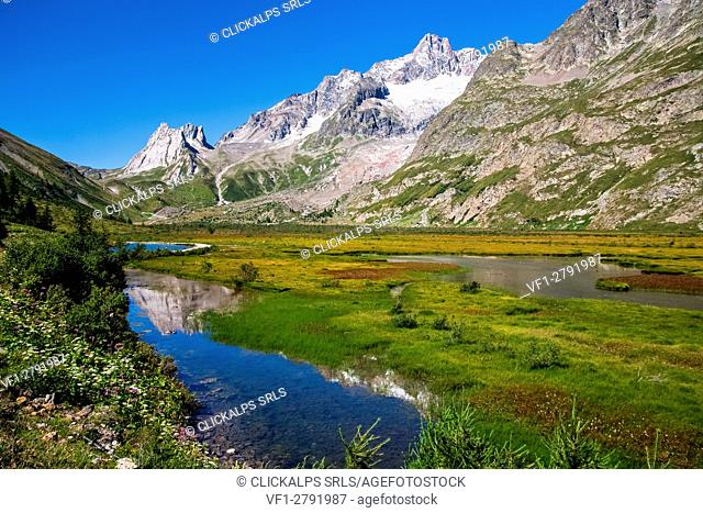Aosta valley, Combal lake on the Veny valley