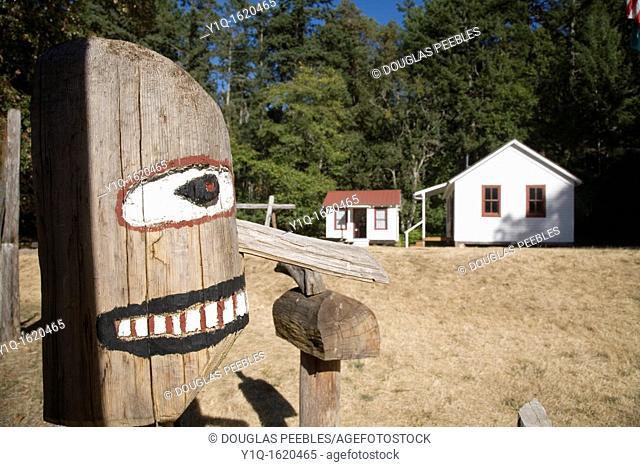 Schoolhouse, Stuart Island, San Juan Islands, Washington State, USA