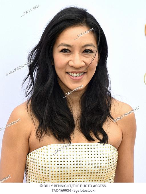 """American figure skater Michelle Kwan attends the 6th Annual """"""""Gold Meets Golden"""""""" Party Hosted by Nicole Kidman and Nadia Comaneci at The House On Sunset in..."""