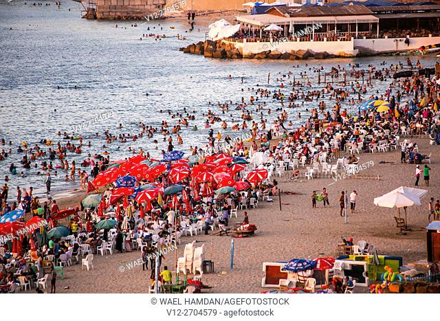 Public beach, Alexandria, Egypt