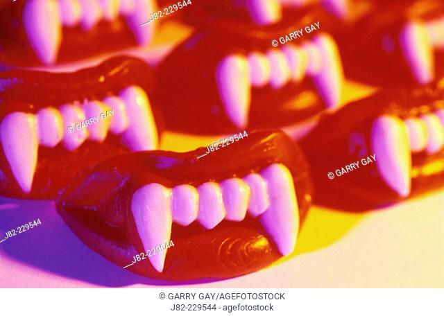 Wax vampire teeth