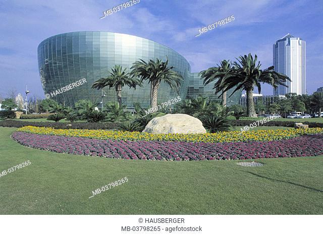 China, Shanghai, Oriental Art Center, Park  Asia, Eastern Asia, culture center, buildings, construction, Architect Paul Andreu, architecture
