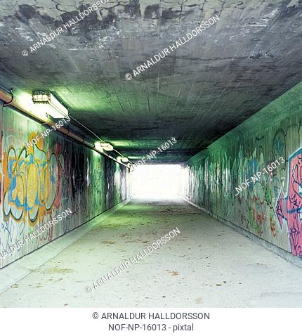 Graffiti in an underpass