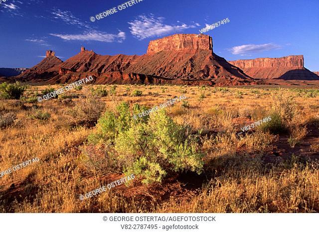 Fisher Valley cliffs, Colorado Riverways Recreation Area, Upper Colorado River Scenic Byway, Utah