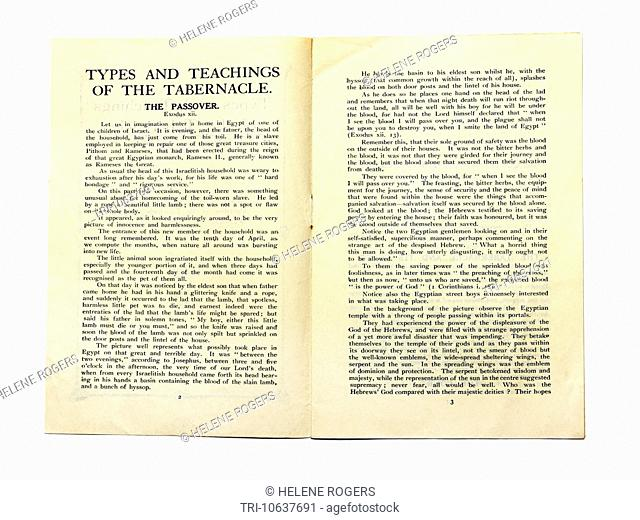 Old Booklet On The Types And Teachings Of The Tabernacle A Portable Sanctuary Constructed For Worship For The Jews When They Were Wandering Through The Desert