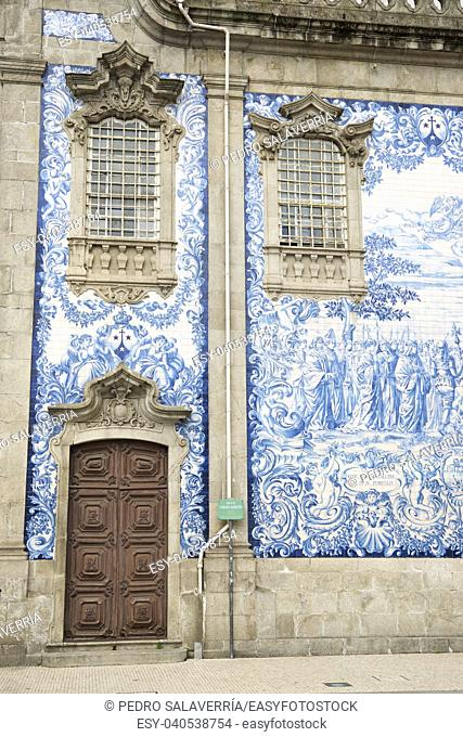Ceramic wall in Porto, Portugal