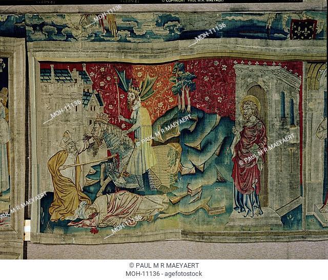 La Tenture de l'Apocalypse d'Angers, La mort des deux Témoins 1,52 x 2,26m, Tod der zwei Zeugen