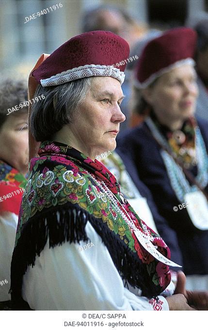 Estonia - Woman in traditonal dress
