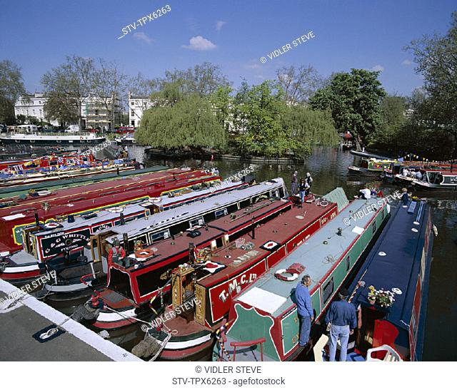 Boats, Canal, England, United Kingdom, Great Britain, Holiday, Landmark, Little venice, London, Regent's, Tourism, Travel, Vacat