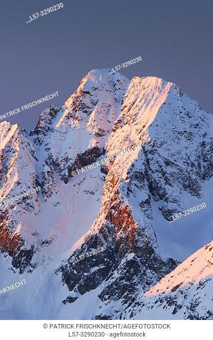 Piz Julier - 3380 m, view from Piz Corvatsch, Graubuenden, Switzerland