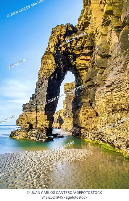 Beach of the Cathedrals. Ribadeo. Lugo. Galicia. Spain. Europe