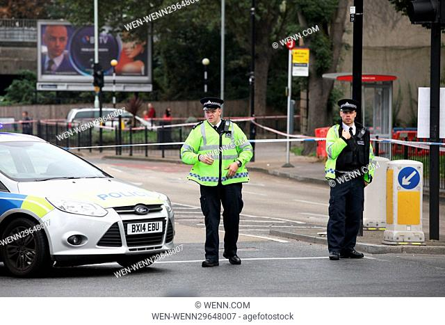 Cordons remain in place at the scene of a shooting in Haringey, north London, that left a man in his 20s fighting for his life in hospital