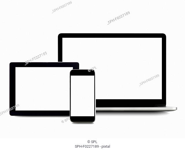 Blank digital device screens