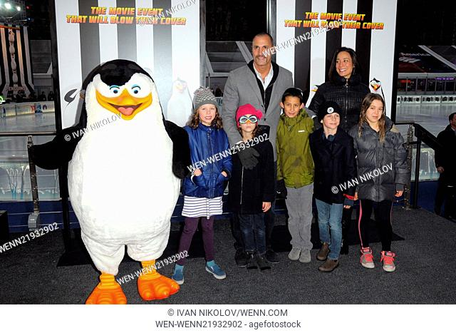 "New York Screening of """"Penguins of Madagascar"""" Featuring: Nigel Barker, Crissy Barker Where: New York City, New York, United States When: 16 Nov 2014 Credit:..."