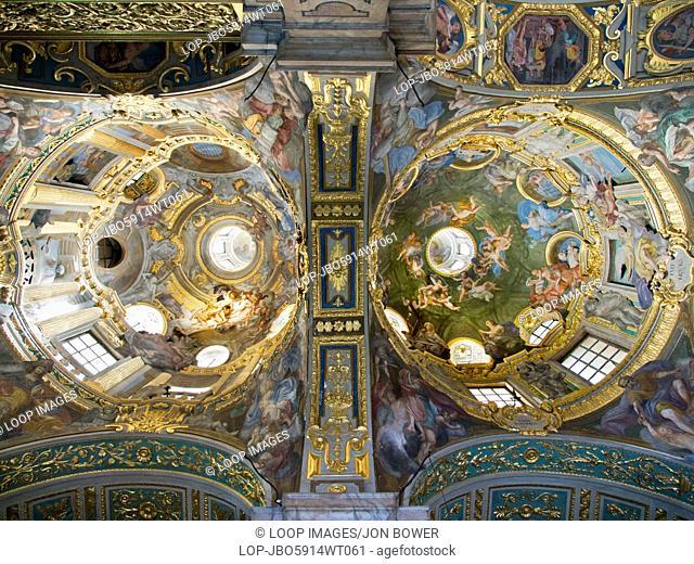 The interior of the Basilica della Santissima Annunziata del Vastato in Genoa
