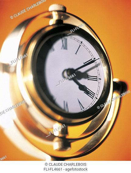 Close-up of Watch, Orange Background