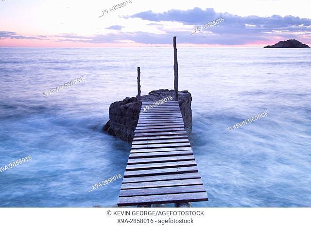 Pier at Hort Cove Beach; Ibiza; Spain