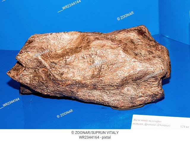 Metallic iron meteorite