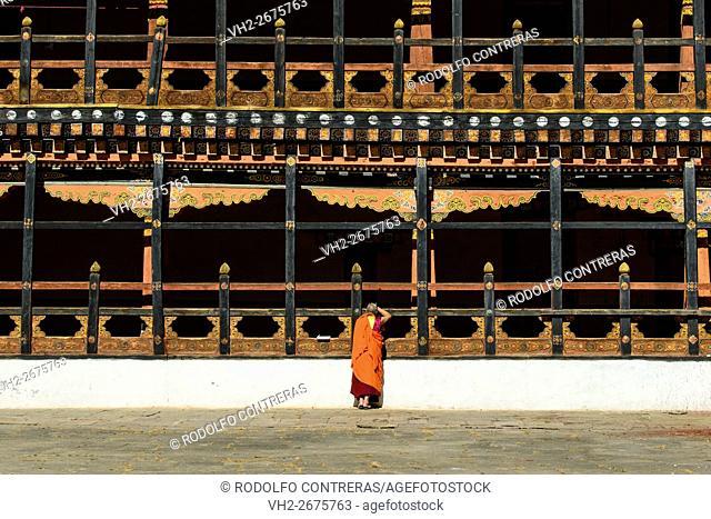 Monk at the monastery, Bhutan