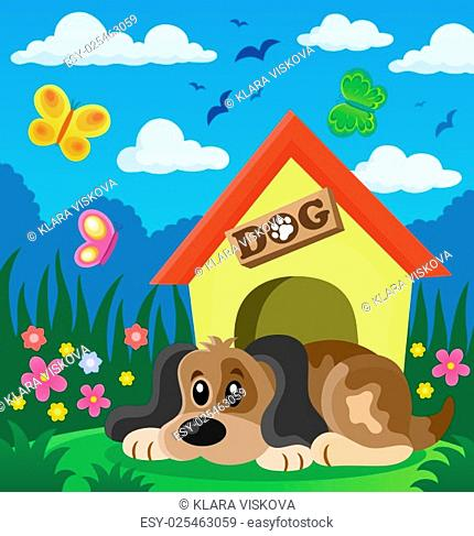 Dog thematic image 2 - picture illustration