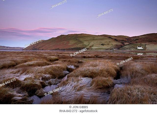 Low tide on a beautiful morning at Loch Harport, Isle of Skye, Scotland, United Kingdom, Europe