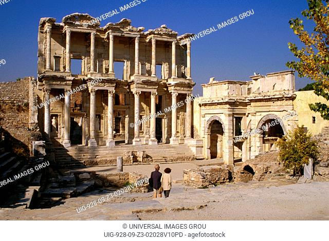 Turkey, Ephesus. Celsus Library Completed Ad 135
